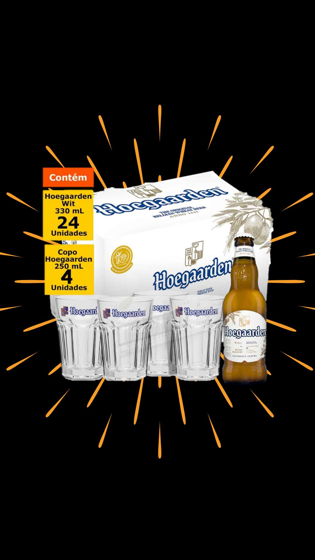 Kit Hoegaarden – Cervejas + copos
