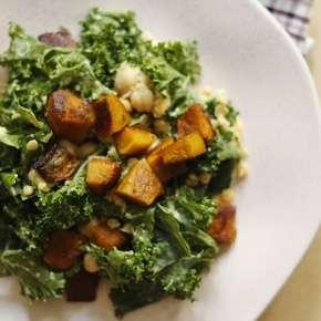 Salada de couve kale
