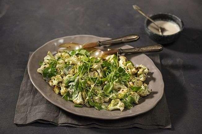 Salada de couve-flor com agrião