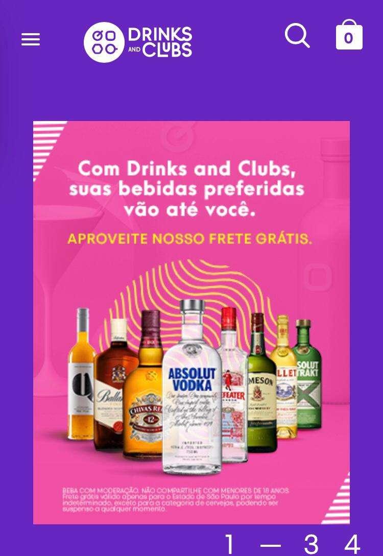 Tudo para os seus drinks está no Drinks & Clubs!