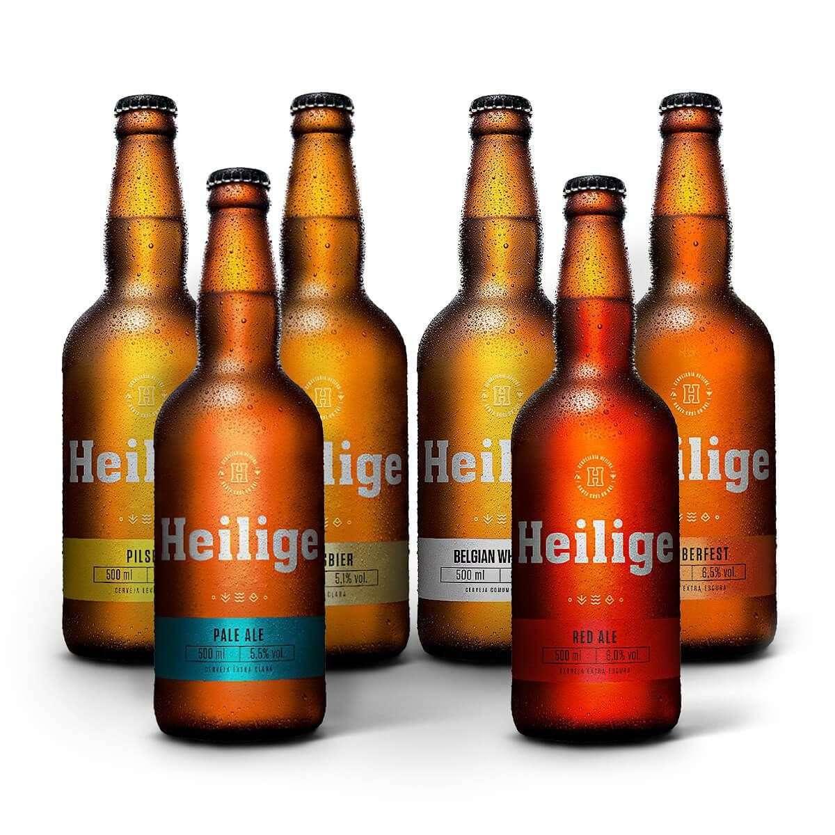 Kit Degustação – Cervejaria Heilige - 6 Cervejas