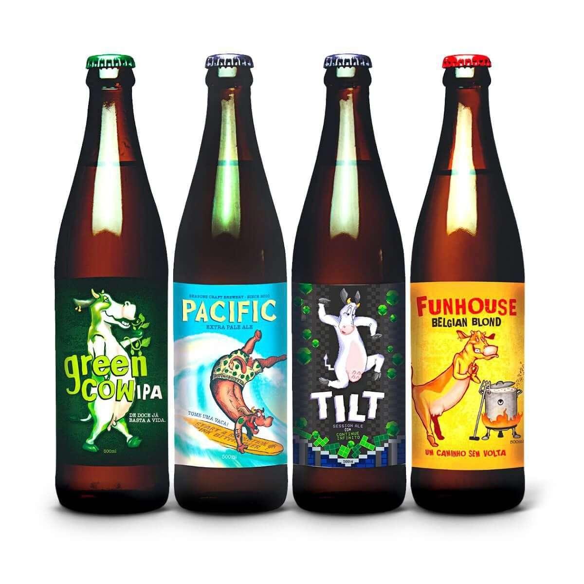 Kit Degustação - Cervejaria Seasons - 4 Cervejas