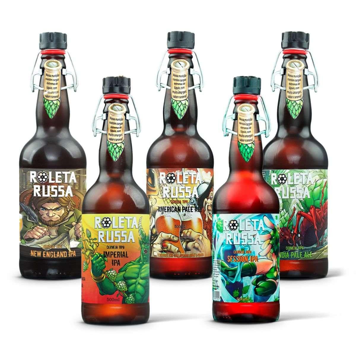 Kit Degustação – Cerveja Roleta Russa - 5 Cervejas