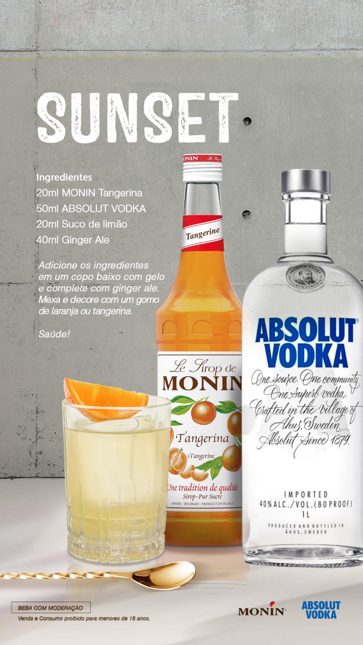 Drinks com Monin: para dar um upgrade no seu bar em casa